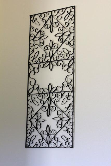 diy un tableau style fer forg avec des mes de rouleaux. Black Bedroom Furniture Sets. Home Design Ideas