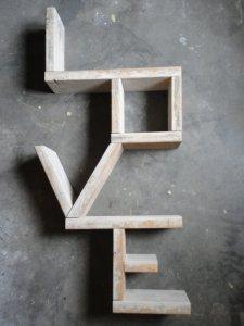 lettre etagere