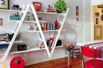 d co escabeau et chelle comme tag re ralfred 39 s blog. Black Bedroom Furniture Sets. Home Design Ideas