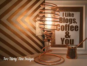 lampe cuivre