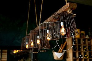 Vintage-wire-baskets-turned-into-light-fixtures