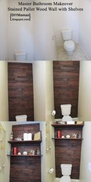 wc mur bois